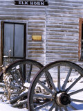 Wagon Wheels at Elkhorn Ghost Town  Montana  USA