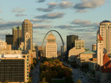 Downtown and Gateway Arch at Sunset  St Louis  Missouri  USA