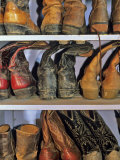 Cowboy Boots at Ranch  Marion  Montana  USA