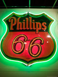 Rt66 Museum with Phillips 66 Gas Station Sign  St Louis  Missouri  USA