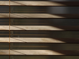 Close-up of the Brown Slats of Window Blinds
