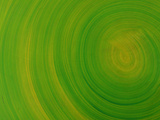Close-up of Smooth Painted Green Swirls
