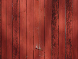 Close-up of Weathered Wooden Boards with Faded Red Paint