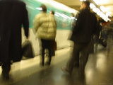 Blurred view of Commuters