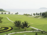 Landscaped Golf Course Near the Ocean