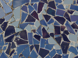 Close-up of Bright Pieces of Tile in a Colorful Mosaic