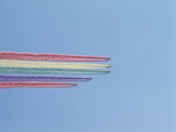 Jet Planes with Colorful Rainbow Trails