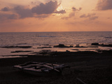 Sunshine on the Sea and the Dark Beach
