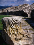 Roman Amphitheatre Ruin  Salona  Croatia