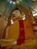 A Large Buddha Statue at the Thai-Influenced Temple of 1000 Lights  in Little India  Singapore