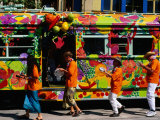 Decorated Tram at Moomba Festival  Melbourne  Australia