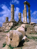 Temple of Hercules at the Citadel  Jebel Al-Qala  Amman  Jordan