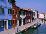 Fondamenta Cavanella Houses  Burano  Veneto  Italy