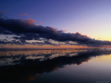 Cloud Formation Reflection Over a Lagoon around the Island at Sunset  Rarotonga  Cook Island