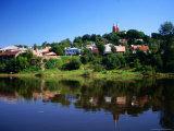 Village of Vilkija  Reflected in Nemunas River  Lithuania