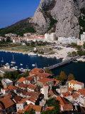 Old Town on Cetina River  Omis  Croatia