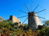 Windmills on the Lassithi Plateau  Rethymno  Crete  Greece