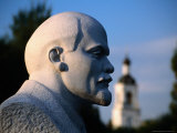 Bust of Lenin at Sculptures Park  Near Gorky Park  Moscow  Russia