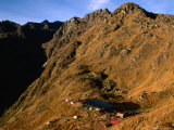 &quot;Hikers&quot; Campsite Below Pass of Runkuracay on Inca Trail to Machu Picchu  Cuzco  Peru