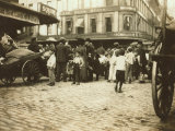 Market Scene  Boston  Massachusetts  c1909