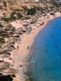 Beach at Ras Um Sid  a Popular Spot for Package Tourists  Sharm El-Sheikh  Egypt