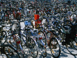 Bicycles Parked Next to Central Railway Station  Malmo  Skane  Sweden