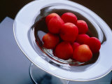 Plums in Glass Dish  Japan