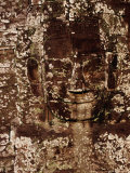 Carving of Face of Avalokiteshvara on the Bayon  Angkor  Siem Reap  Cambodia