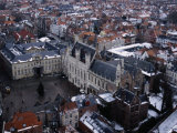 Buildings from Belfry  Bruges  Belgium
