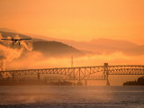 Second Narrows Bridge at Burrard Inlet in Vancouver Harbour  Vancouver  Canada