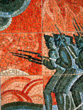 Detail of Mosaic at Borodino Panorama  Moscow  Russia
