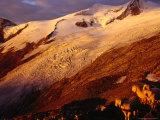 Schlaten Glacier  Grossvenediger Mountain from Neue Prager Hut  Hohe Tauren National Park  Austria