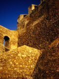 Detail of 15th Century Ramparts  Asilah  Morocco
