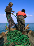 Fishermen Reeling in Their Ropes  Djibouti