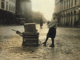 Scavenger Toting Wood  Fall River  Massachusetts  c1916