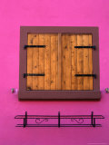 Window of Brightly Painted Alsatian House  France