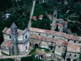 Aerial View of Church and Chapel  Ceriana  Italy