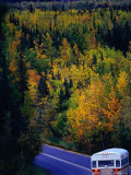 Travelling Through Autumn Landscape  Colorado  USA