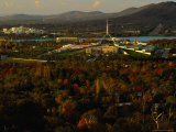 High View of Parliment House  from Red Hill  Canberra  Australia