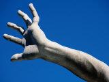 Hand on Statue on Fontana Dei Quattro Fiumi by Bernini  Piazza Navona  Rome  Italy