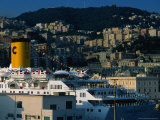 Passenger Ferry at Port  Genova  Liguria  Italy