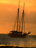 Tall-Ship Moored off Shore  Hanga Roa  Easter Island  Valparaiso  Chile