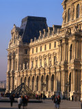 Louvre Museum and Smaller Pyramid  Paris  Ile-De-France  France