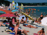 Cape Coz Beach in July  Fouesnant  Brittany  France