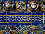 Detail of 18th Century Tilework in Church  Mexico