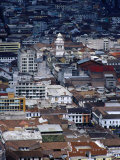 Old Town from the El Panecillo  Quito  Ecuador