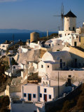 Town with Windmill  Oia  Greece