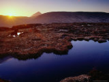 Derryveagh Mountains with Mount Errigal Behind at Sunset  Glenveagh National Park  Ireland