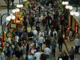 Shoppers at Central Market Hall (Nagycsrnok)  Budapest  Hungary