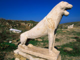 Terrace of the Lions  Side View  Delos  Greece